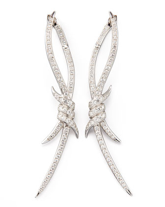 Diamond Barbed Wire Earrings