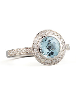 Frederic Sage Frederic Sage Mini Aquamarine Diamond Ring