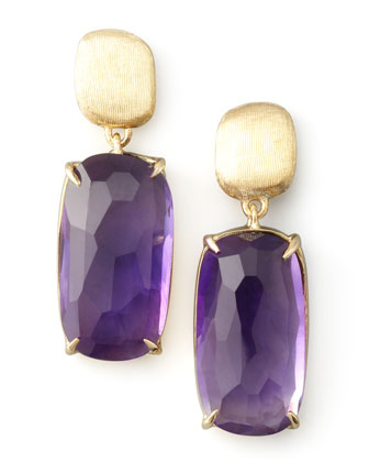 Murano Amethyst Drop Earrings