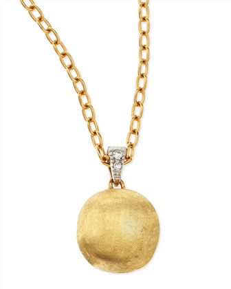 Delicati Diamond-Bale Pendant Necklace