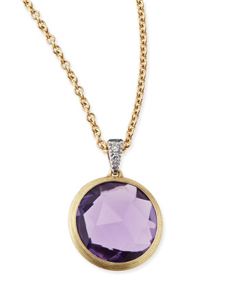 Delicati Jaipur Amethyst Necklace with Diamonds
