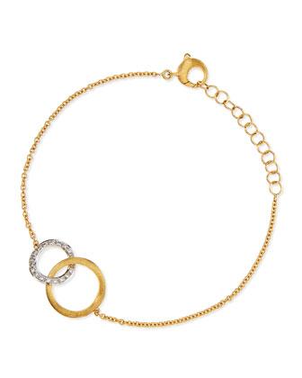 Jaipur 18k Gold Diamond Link Bracelet