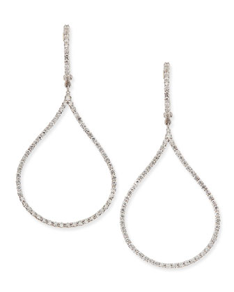 18k Diamond Oval Drop Earrings