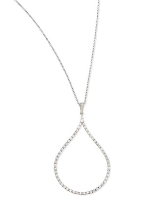 18k Diamond Oval Pendant Necklace