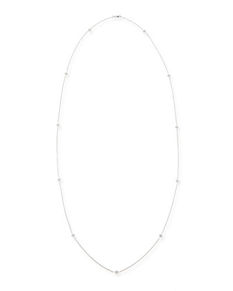 18k White Gold Diamond-Station Necklace, 44