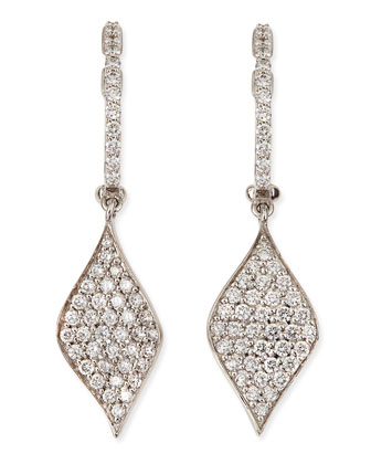18k Pave Diamond Drop Earrings