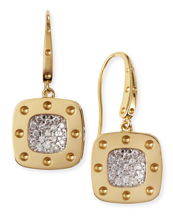 18k Yellow Gold Pois Moi Drop Earrings with Diamonds