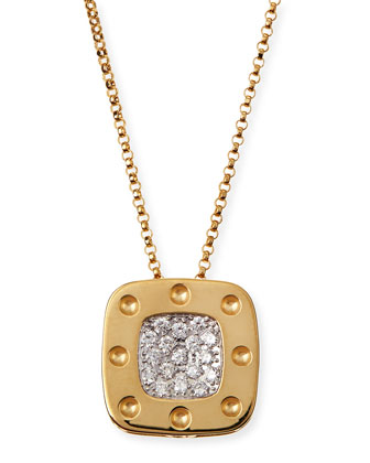 18k Yellow Gold Pois Moi Diamond Pendant Necklace