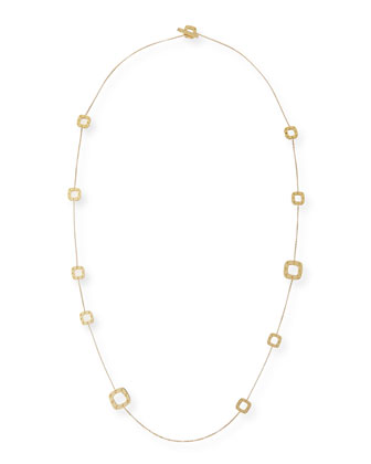 Pois Moi 18k Gold Station Necklace, 31