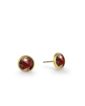 Jaipur Garnet Stud Earrings