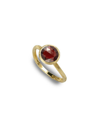 Jaipur Garnet Stackable Ring