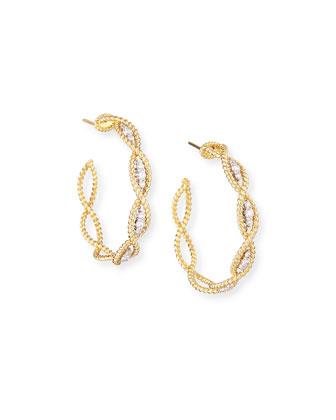 Barocco 18k Gold Diamond Hoop Earrings