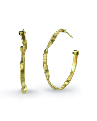 Marrakech Small Twisted 18k Gold Hoop Earrings