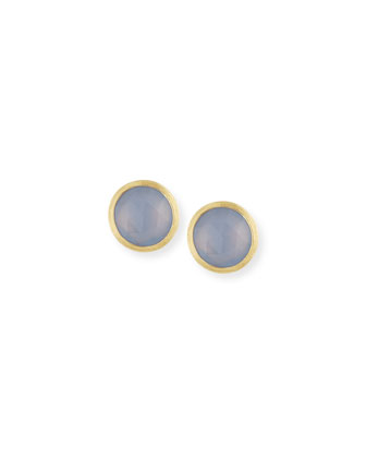 Siviglia Faceted Chalcedony Stud Earrings