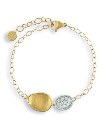 Lunaria Two-Pendant Diamond Bracelet