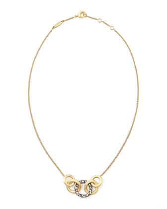 Jaipur Link Pave Sapphire Necklace