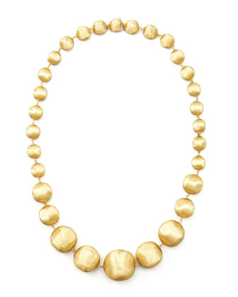 Africa Gold Medium Bead Necklace, 18