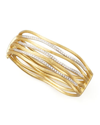 Jaipur Diamond Link Diamond Cuff, Large