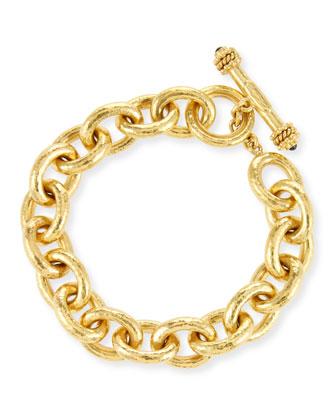 Heavy Oval Link 19k Gold Bracelet