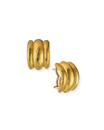 Amalfi 19k Gold Huggie Earrings