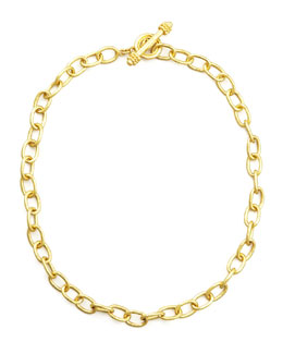 "Elizabeth Locke Volterra 19k Gold Link Necklace, 17""L"