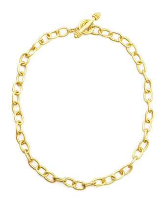 Volterra 19k Gold Link Necklace, 17