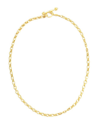 Cortina 19k Gold Link Necklace, 17