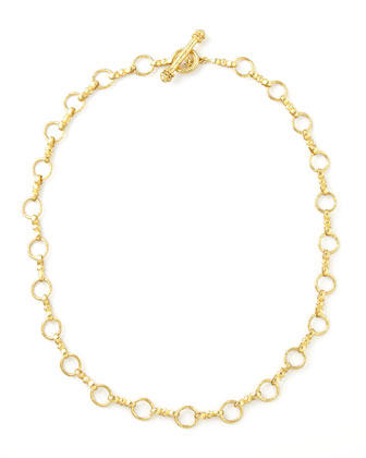 Celtic Gold 19k Link Necklace, 21