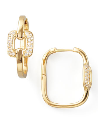 Piece 18k Gold Diamond Station Earrings