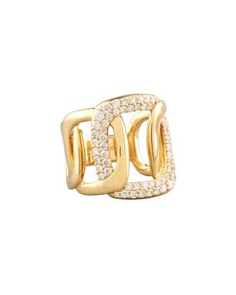 Piece 18k Gold Diamond Station Ring