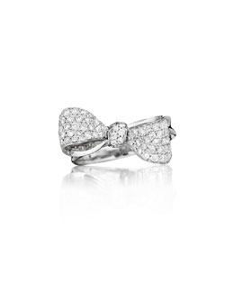 Mimi So Bow Small 18k White Gold Diamond Ring