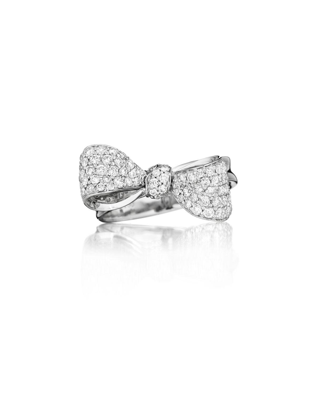Bow Small 18k White Gold Diamond Ring Size 6   Mimi So   White (6)