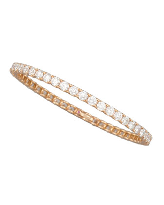 64mm Rose Gold Diamond Eternity Bangle, 11.5ct