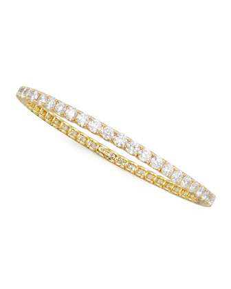 67mm Yellow Gold Diamond Eternity Bangle, 12.09ct