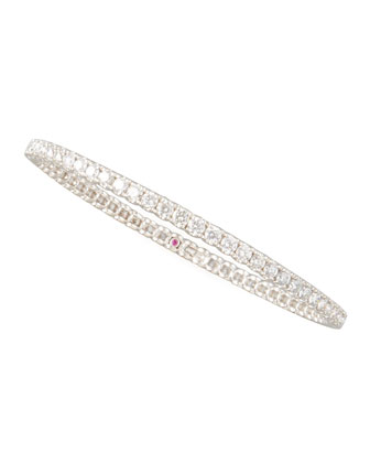 67mm White Gold Diamond Eternity Bangle, 8.45ct