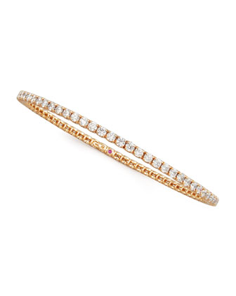 67mm Rose Gold Diamond Eternity Bangle, 5.66ct