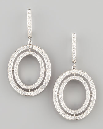 Signature Small Oval Diamond Earrings