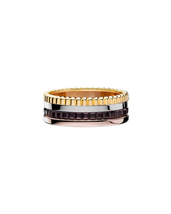Classic Quatre 18k Four-Color Gold Small Band Ring, Size 7