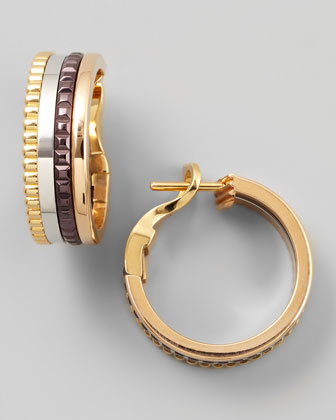 Classic Quatre 18k Four-Color Gold Earrings