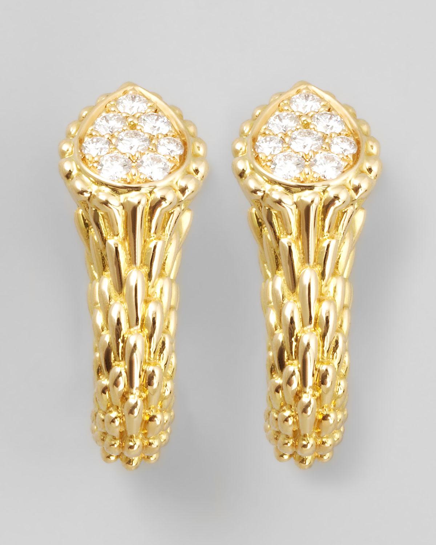 Serpent Boheme 18k Yellow Gold Diamond Earrings   Boucheron   Yellow (18k )
