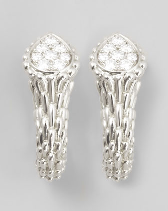 Serpent Boheme 18k White Gold Diamond Earrings