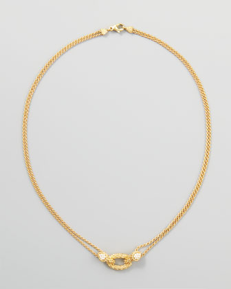 Serpent Boheme 18k Yellow Gold Necklace, 16