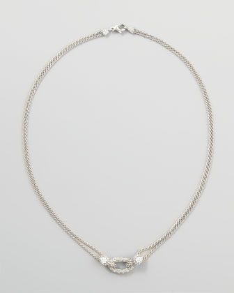 Serpent Boheme 18k White Gold Necklace, 16