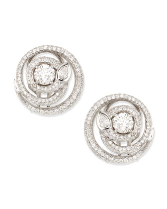 Diamond Serpent Stud Earrings, H/VS2, 2.19 TCW