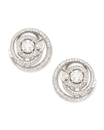 Diamond Serpent Stud Earrings