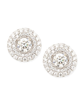 Petite Deco Treasures Luna Stud Earrings, 3.08 TCW, H/SI1