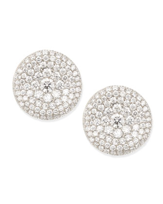 Swing Collection Thumbprint Diamond Stud Earrings, E/VS2