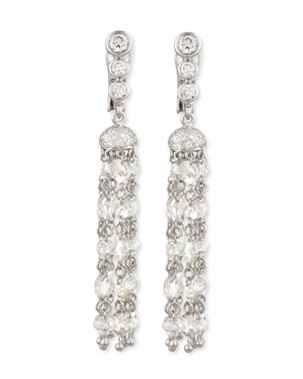 Maria Canale Swing Collection Rose-Cut Tassel Earrings, 5.8 TCW; G/VS1