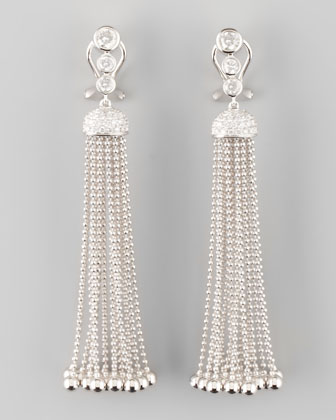 Maria Canale Swing Diamond and Gold Ball Tassel Earrings, H/VS1 1.28