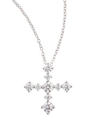 Anniversary Collection Diamond Cross Pendant Necklace, E/VS1, 0.62 TCW